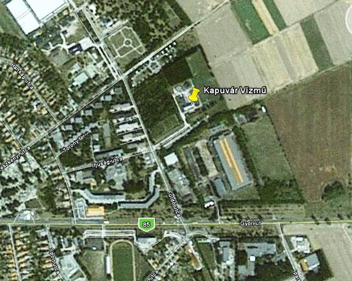 kapuvár térkép Kapuvári vízmű   PANNON VÍZ Zrt. kapuvár térkép